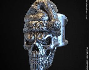 santa claus skull vol2 ring 3D printable model