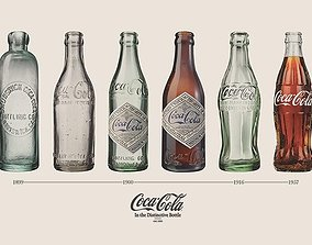 Classic Coca-Cola inspired Bottles collection stock 3d 1