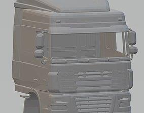 shell DAF XF Printable Cab Truck