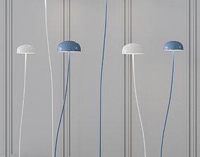 Zero - Curve floor lamp 3D model