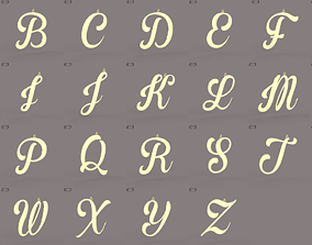A-Z Large letters without jewelry 3D asset