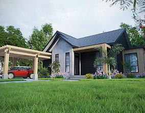 MODERN HOUSE EXTERIOR SCENE 3D model