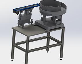 Vibration plate feeding mechanism 3D model