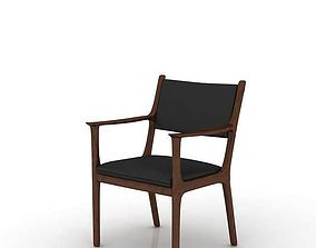 3D model Retro Wooden Minimalist Chair