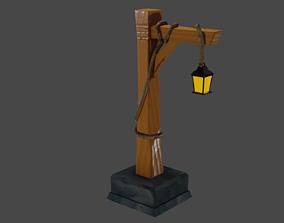 3D model Medieval street lamp