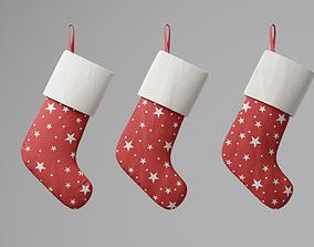 3D asset Christmas socks