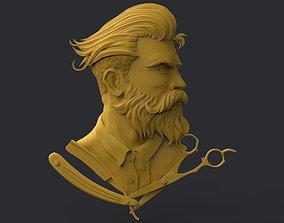 3D printable model Barber Shop Logo