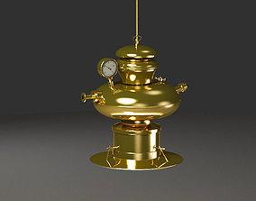 Old pumping gas lamp lighting 3D model