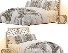 3D model Arudin Rattan Bed