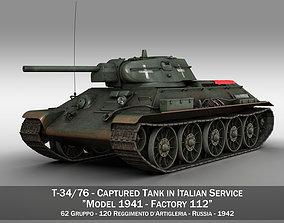 3D T-34-76 - Model 1942 - Soviet tank in Italian Service