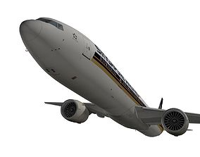 Boeing 777-300ER Singapore Airlines 3D model
