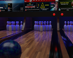 3D model Bowling animation