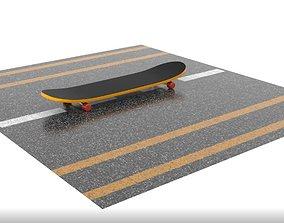 realistic skateboard low 3D model