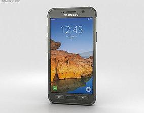 camo Samsung Galaxy S7 Active Camo Green 3D model