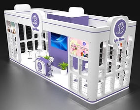 3D model Cosmetic Product Kiosk Design 9x3
