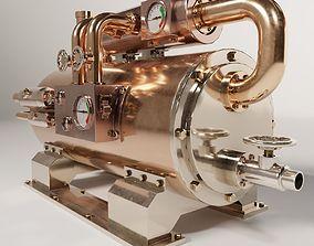 3D asset realtime Steampunk boiler 03