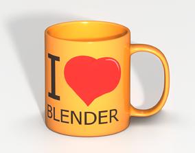 3D model I Heart Blender Mug