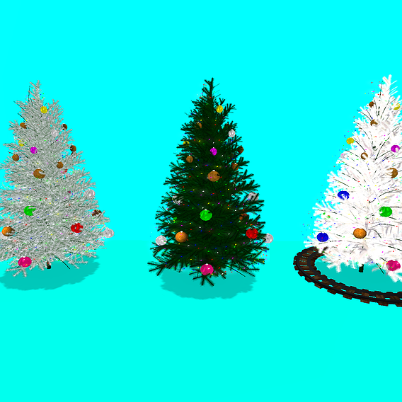 Textured Christmas Tree 3 Colors