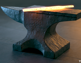 The Iron Anvil - PBR 4K Textures - UDIM 3D model