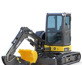 3D model Mini Excavator Deere 50G tracked