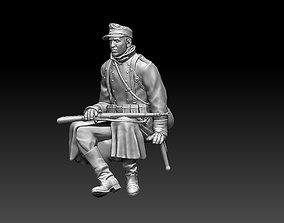 German soldier 3D printable model mauser