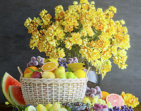 3D Flowers and fruits