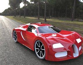 3D printable model bugatti veyron