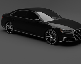 Audi A8 size 3D model