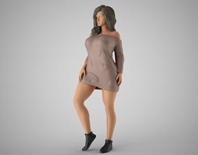 Winter Beauty Woman 3D print model