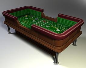 Craps Table Low Poly 3D asset
