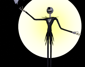 3D model Jack and Zero-The Nightmare Before Christmas