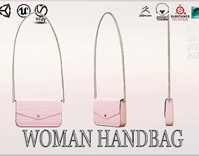 3D asset low-poly Woman Handbag Louis Vuitton
