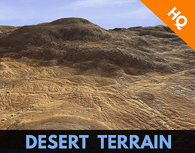 3D model Terrain Desert Relief Rocks Landscape 3