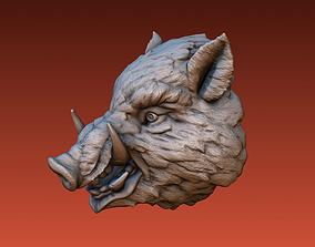 3D print model Boar head