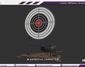 Reactive Target Game props 3D asset