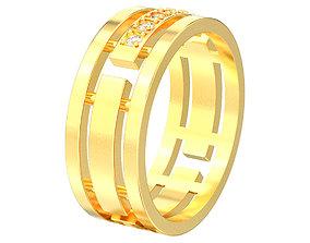 3D printable model wedding-ring Wedding 5 diamonds ring