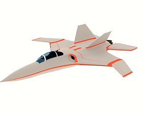 3D model realtime Low-Poly Aircraft Attacker