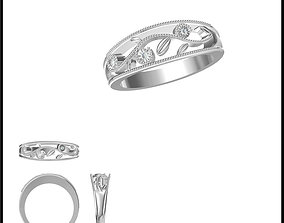 Unique promise rings jewelry 3D print model