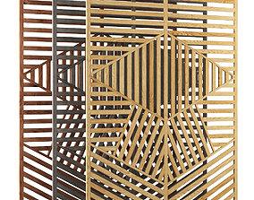 3D model Wooden panel V2