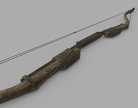 Recurve Bow 3D model game-ready
