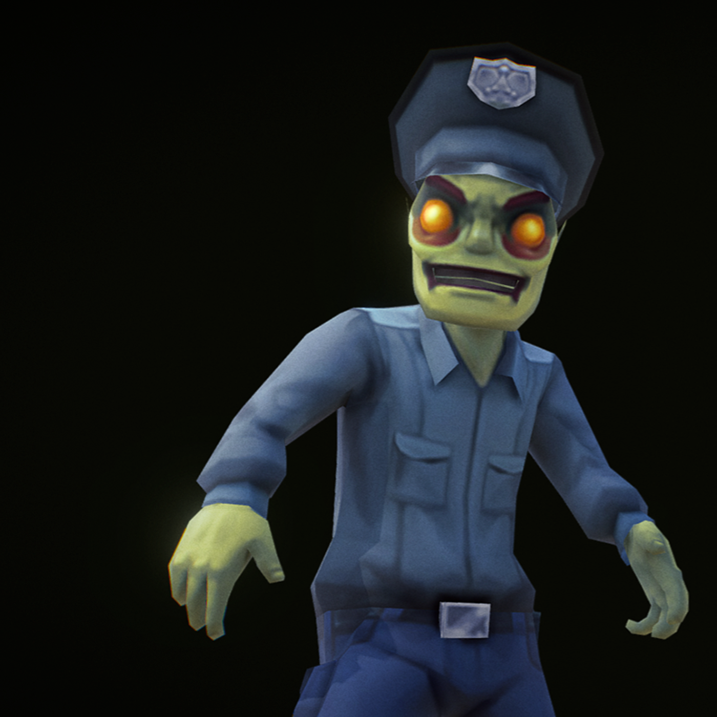 Policeman Zombie - hand painted 3d model