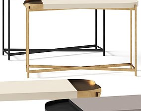 Crate and Barrel Laurie White Console Table 3D model