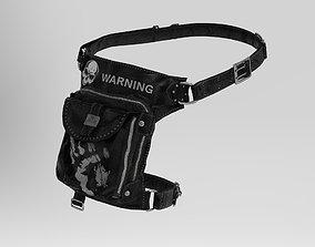 3D asset Leather belt bag