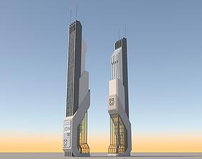3D Futuristic Sci-Fi Skyscraper 06