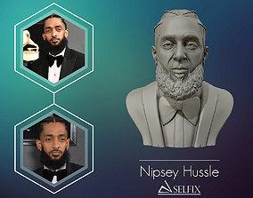 Nipsey Hussle 3D Bust Sculpture face