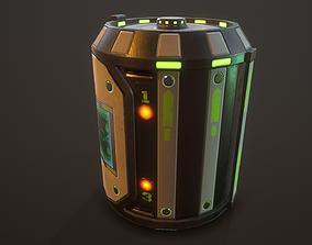 Sci-Fi Acid Barrel Game Ready PBR Textures 3D model