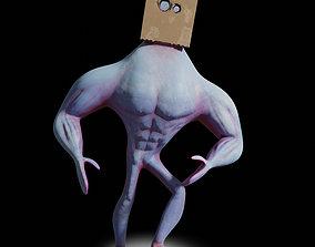 Box Head Dude Rigged 3D model