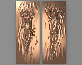 3D printable model Beautiful girl Bas relief