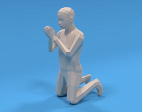 Low Poly Kid Praying 3D model