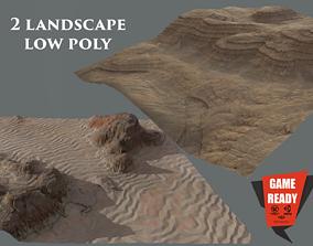 MARS - 2 LANDSCAPE LowPoly 3D asset